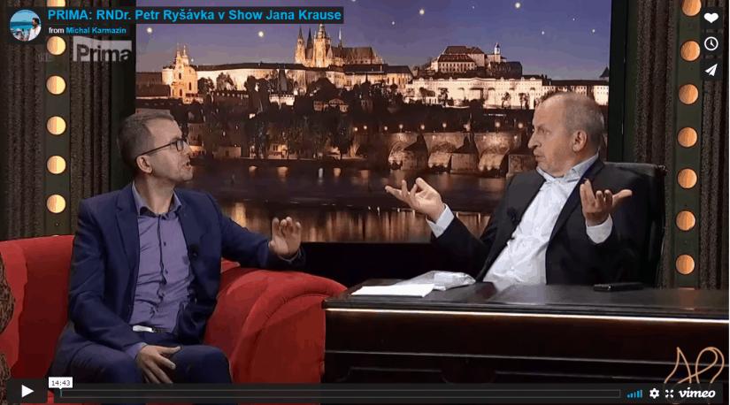 RNDr. Petr Ryšávka v Show Jana Krause